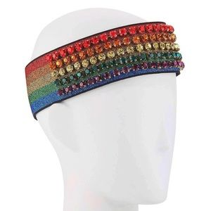 GUCCI Rainbow Crystal Headband - NWT